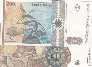 Romania, 200 Lei and 500 Lei, 1992/ 1991, UNC, p100a/ p98b, (Total 2 Banknotes)