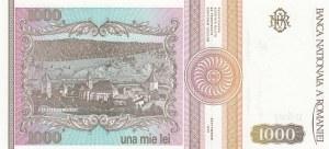 Romania, 1000 Lei, 1991, UNC, p101Aa