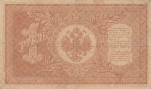 Russia, 1 Ruble, 1898, VF (-), p1b