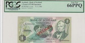 Scotland, 1 pounds, 1980, p111ds, SPECİMEN