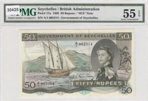 Seychelles, 50 Rupees, 1968, AUNC, p17a