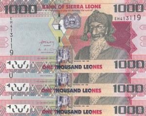 Sierra Leone, 1000 Leones, 2013, UNC, p30, (Total 3 Pieces Consecutive Banknotes)