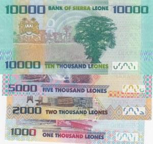 Sierra Leone, 1000 Leone, 2000 Leone, 5000 Leone and 10000 Leone, 2010-2013, UNC, p30/ p31/ p32/ p33, (Total 4 Banknotes)
