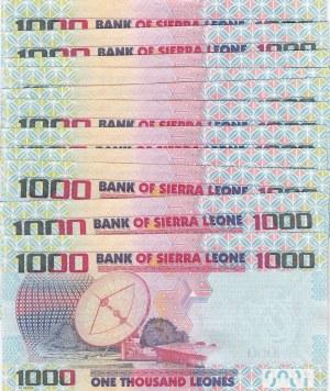 Sierra Leone, 1000 Leone, 2013, UNC, p30b, (Total 11  Pieces Consecutive Banknotes)