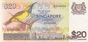 Singapore, 20 Dollars, 1979, XF, p12