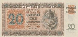 Slovakia, 20 Korun, 1942, UNC, p7a