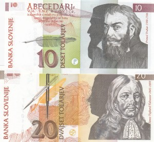 Slevonia, 10 Tolarjev and 20 Tolarjev, 1992, UNC, p11 / p12, (Total 2 banknotes)