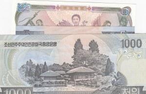 Korea, 3 Pieces UNC Banknotes