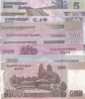 Korea, 9 Pieces UNC Banknotes