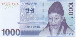 South Korea, 1000 Won, 2007, UNC, p54