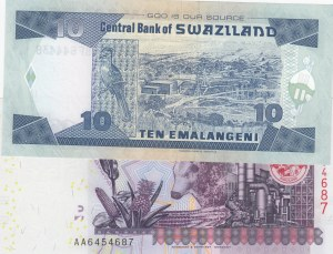Swaziland, 10 Emalangenis and 20 Emalangenis, 2006/ 2010, UNC, p29c/ p37a, (Total 2 Banknotes)