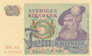 Sweden, 5 Kroner, 1981, UNC, p51d