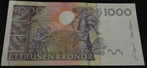 Sweden, 1000 Kronor, 1989-1992, XF (+), p67