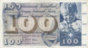 Switzerland, 100 Franken, 1967, VF, p49j