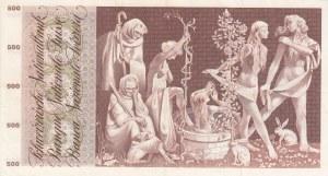 Switzerland, 500 Franken, 1967, XF, p51e