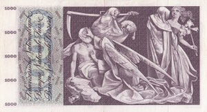 Switzerland, 1000 Franken, 1973, XF, p52l