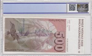 Switzerland, 500 Franken, 1992, AUNC, p58c