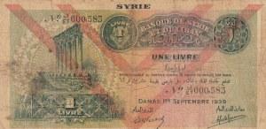 Syria, 1 Livre, 1939, FINE (+), p40