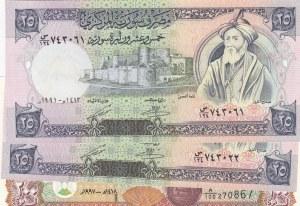 Syria, 3 Pieces UNC Banknotes