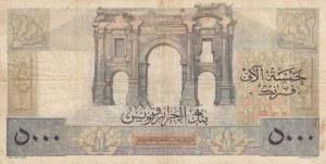 Tunisia, 5000 Francs, 1956, VF (+), p27