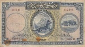 Turkey, 5 Livre, 1927, POOR, p120, 1/1. Emission