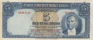 Turkey, 5 Lira, 1937, FINE, p127, 2/1. Emission