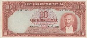 Turkey, 10 Lira, 1938, XF, p128, 2/1. Emission