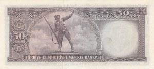 Turkey, 50 Lira, 1964, AUNC, p175, 5/6. Emission