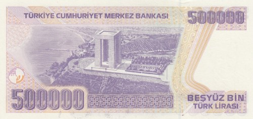 Turkey, 500.000 Lira, 1997, UNC, p212, 7/4. Emission, J01