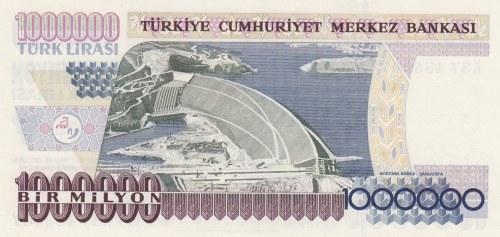 Turkey, 1.000.000 Lira, 1996, UNC, p209b, 7/2. Emission, K37 FIRST PREFIX
