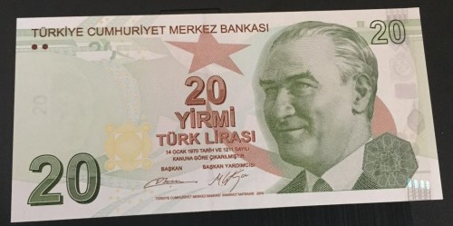 Turkey, 20 Lira, 2012, UNC, p224b, 9/2. Emission