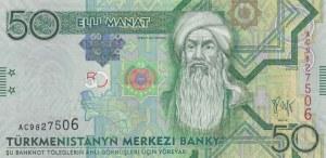 Turkmenistan, 50 Manat, 2009, AUNC, p26