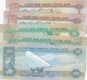 United Arab Emirates, 5 Pieces UNC Banknotes