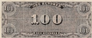 United States Of America, 100 Dollars, 1864, XF, T-65