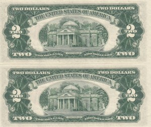 United States of America, 2 Dollars, 1953, UNC, p380b, (Total 2 consecutive banknot)