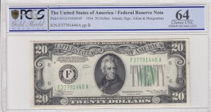 United States of America, 20 Dollars, 1934, UNC, P431d