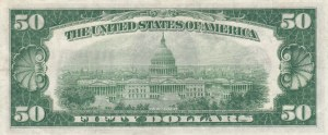 United States of America, 50 Dollars, 1934, XF, p432D
