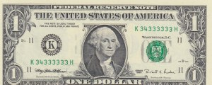 Unıted States of America, 1 Dollar, 1995, UNC, p496, NICE SERIAL NUMBER