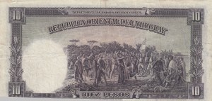 Uruguay, 10 Pesos, 1935, VF, p30a