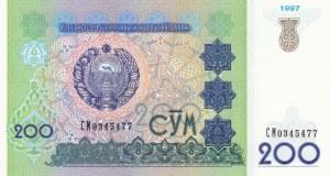 Uzbekistan, 200 Sum, 1997, UNC, p80