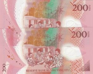 Vanuatu, 200 Vatu, 2014, UNC, p12, (Total 2 Banknotes)