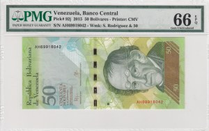 Venezuelan, 50 Bolivares, 2015, UNC, p92j