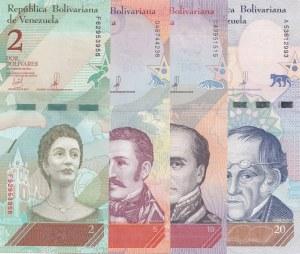 Venezuela, 2 Bolivares, 5 Boivares, 10 Bolivares and 20 Bolivares, 2018, UNC, (Total 4 banknotes)
