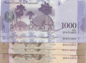 Venezuela, 5 Piececs UNC Banknotes