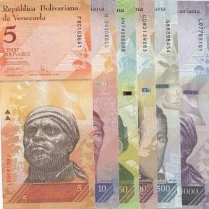 Venezuela, 6 Piececs UNC Banknotes