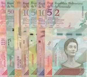 Venezuela, 8 Pieces UNC Banknotes