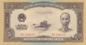 Vietnam, 5 Dong, 1958, UNC, p73a
