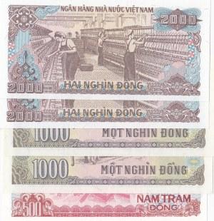 Vietnam, 5 Pieces UNC Banknotes