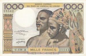 West African States, 1000 Francs, 1959-1965, UNC, p103Ak