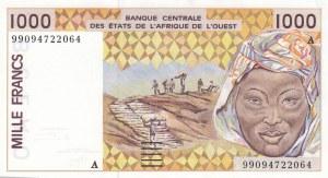 West African States, Ivory Coast, 1000 Francs, 1999, UNC, p111Ai